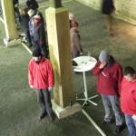 In Rot: die Emder Timo, Wolle und Stephan